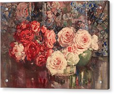 Roses Acrylic Print by Mountain Dreams