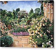 Roses Orange Acrylic Print by David Lloyd Glover
