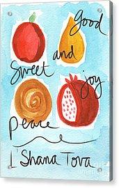 Rosh Hashanah Blessings Acrylic Print by Linda Woods