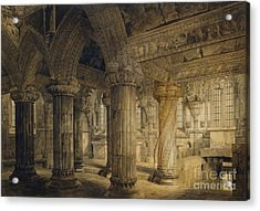 Roslyn Chapel Acrylic Print by Joseph Michael Gandy