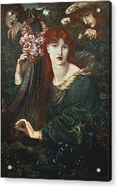 Rossetti, Dante Gabriel 1828-1882. La Acrylic Print by Everett