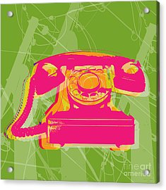 Rotary Phone Acrylic Print by Jean luc Comperat