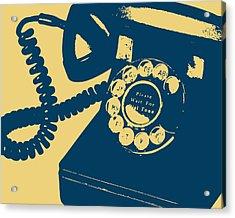 Rotary Telephone Acrylic Print by Flo Karp