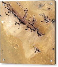 Roter Kamm Crater Acrylic Print by Nasa