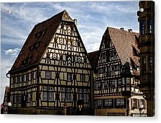 Rothenburg Architecture Acrylic Print by Joanna Madloch