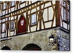 Rothenburg Geometry Acrylic Print by Joanna Madloch