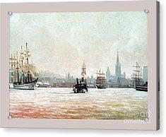 Rouen-tall Ships Acrylic Print by Caroline Beaumont