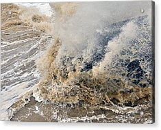 Rough Sea Acrylic Print by Barry Goble