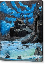 Rough Seas Acrylic Print by Dave Atkins