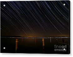 Round Bay Startrails Acrylic Print by Benjamin Reed