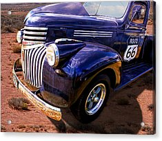 Route 66 Chevy 1941 Acrylic Print by Gill Billington