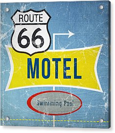 Route 66 Motel Acrylic Print by Linda Woods