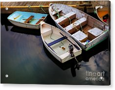Rowboats Acrylic Print by Diane Diederich