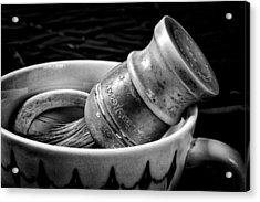 Roy's Shaving Mug I Acrylic Print by Jeff Burton