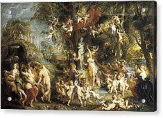 Rubens, Peter Paul 1577-1640. The Feast Acrylic Print by Everett