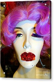 Ruby Red Lips Acrylic Print by Ed Weidman