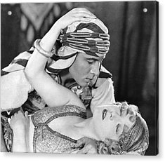 Rudolph Valentino Acrylic Print by Underwood Archives