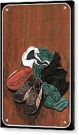 Rugby Acrylic Print by Sam Mart