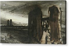 Ruins In A Landscape Acrylic Print by Victor Hugo