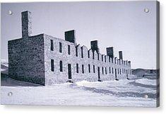 Ruins In Winter Acrylic Print by David Fiske