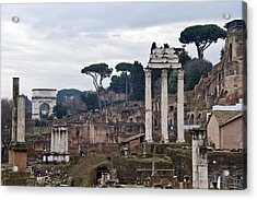 Ruins Of A Building, Roman Forum, Rome Acrylic Print by Panoramic Images