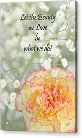 Rumi Quote-4 Acrylic Print by Rudy Umans