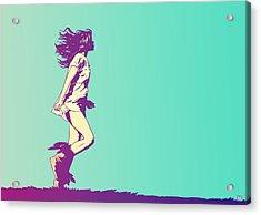 Running Free Acrylic Print by Giuseppe Cristiano