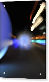 Running Lights Acrylic Print by Frederico Borges