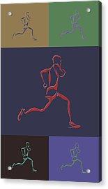 Running Runner Acrylic Print by Joe Hamilton