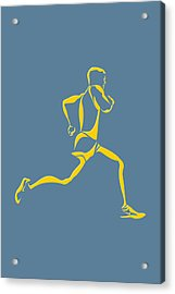 Running Runner13 Acrylic Print by Joe Hamilton