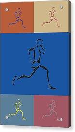 Running Runner2 Acrylic Print by Joe Hamilton