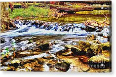 Running Stream In Yosemite National Park Acrylic Print by Bob and Nadine Johnston