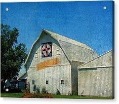 Rural Iowa Barn Acrylic Print by Cassie Peters
