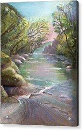 Rushing Creek Gatlinburg Tennessee Acrylic Print by Kathleen Bonadonna