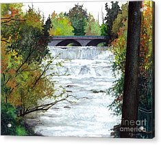 Rushing Water - Quiet Thoughts Acrylic Print by Barbara Jewell