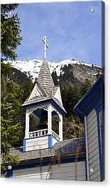 Russian Orthodox Church Bell Tower Acrylic Print by Cathy Mahnke
