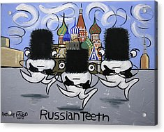 Russian Tooth Acrylic Print by Anthony Falbo