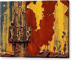 Rust Abstract Acrylic Print by Jack Zulli