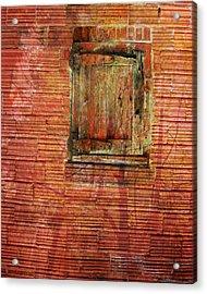 Rust Wall Acrylic Print by Lyn  Perry