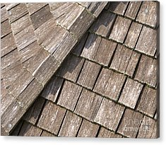 Rustic Rooftop Acrylic Print by Ann Horn