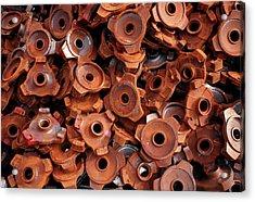 Rusty Cogwheels Acrylic Print by Dirk Wiersma