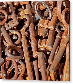 Rusty Keys Acrylic Print by Art Block Collections