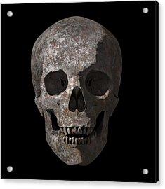 Rusty Old Skull Acrylic Print by Vitaliy Gladkiy
