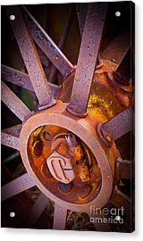 Rusty Spokes Acrylic Print by Inge Johnsson