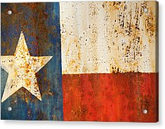 Rusty Texas Flag Rust And Metal Series Acrylic Print by Mark Weaver