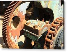 Rusty Wheel Gear Acrylic Print by Carol Groenen