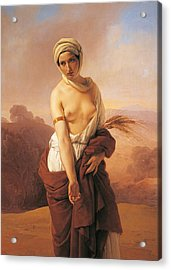 Ruth Acrylic Print by Francesco Hayez
