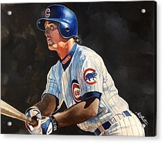 Ryne Sandberg - Chicago Cubs Acrylic Print by Michael  Pattison