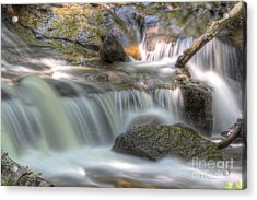 Sable Falls In Pictured Rocks Acrylic Print by Twenty Two North Photography