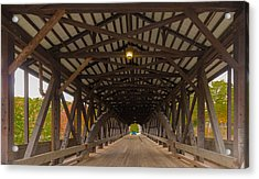 Saco River Bridge Acrylic Print by Karen Stephenson